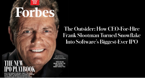 Frank Slootman Turned Snowflake Into Software's Biggest-Ever IPO