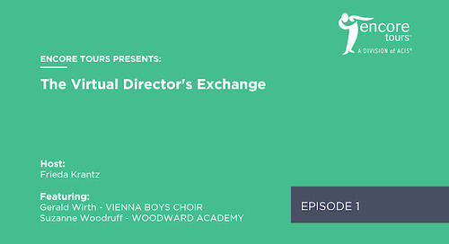 Virtual Director's Exchange - Episode 1 (Ft. Gerald Wirth and Suzanne Woodruff)