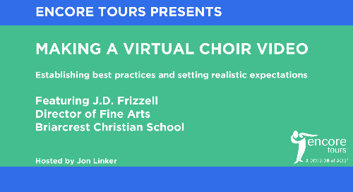 J.D. Frizzell on How To Make a Virtual Choir Video