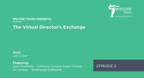 Virtual Director's Exchange - Episode 2 (Ft. Ian Keatley and Sean Boulware)