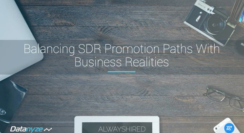 Balancing SDR Promotion Paths With Business Realities