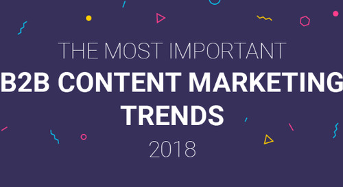 B2B Content Marketing Trends of 2018 [Infographic]