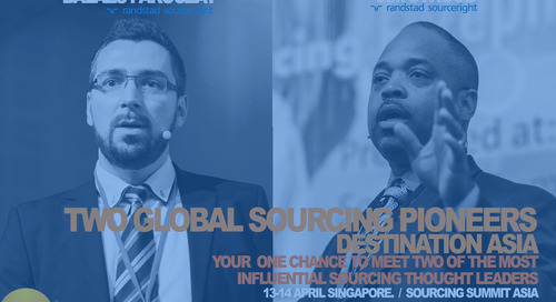 not to miss: sourcing leaders Stroud and Paroczay share innovation at #SOSUASIA