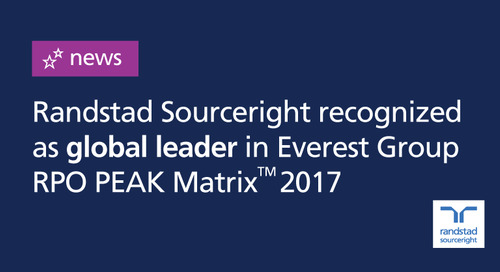 Randstad Sourceright recognized as a leading recruitment process outsourcing (RPO) provider by Everest Group