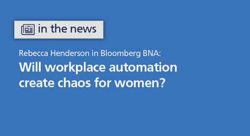 Bloomberg BNA: will workplace automation create chaos for women?