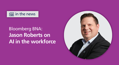 Bloomberg BNA: AI streamlines and adds efficiency to HR