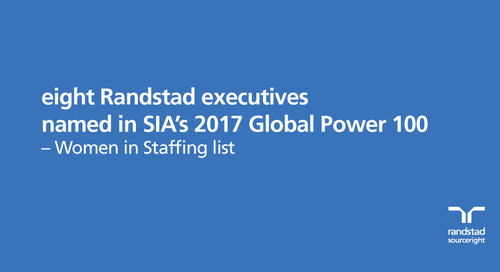 eight Randstad executives named in SIA's 2017 Global Power 100 – Women in Staffing list