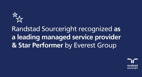 Randstad Sourceright recognized as a leading managed service provider & Star Performer by Everest Group