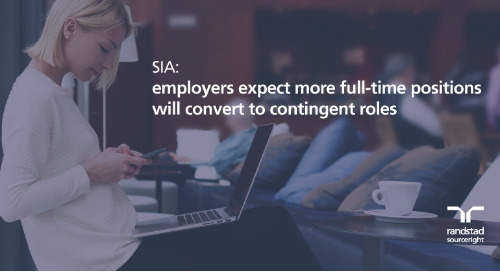 SIA: employers expect more full-time positions will convert to contingent roles