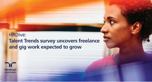 HRDive: Talent Trends survey uncovers freelance and gig work expected to grow.