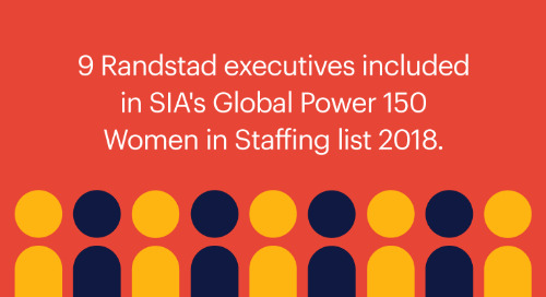 9 Randstad executives included in SIA's Global Power 150 — Women in Staffing list 2018.