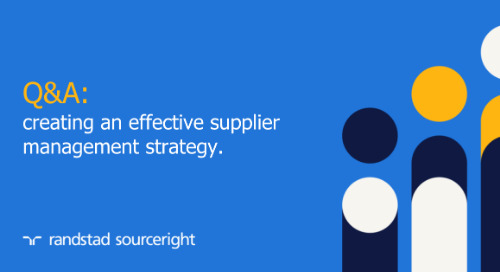 Q&A: creating an effective supplier management strategy.