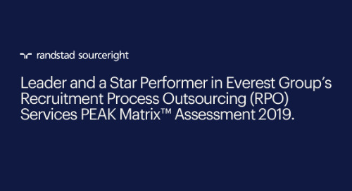 respected industry assessment again names Randstad Sourceright a leader in recruitment outsourcing services.