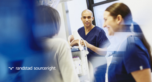 Randstad Sourceright finds booming healthcare industry faces tightening talent market.
