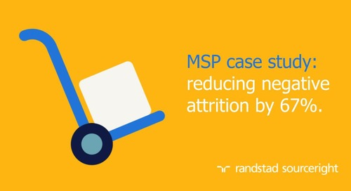 MSP case study: improving contingent talent retention with market insights.