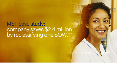 MSP case study: company saves $2.4 million by reclassifying one SOW.