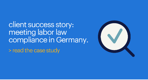 MSP case study: meeting labor law compliance in Germany.