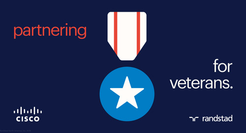 Randstad partners with CISCO to place military veterans in cybersecurity careers.
