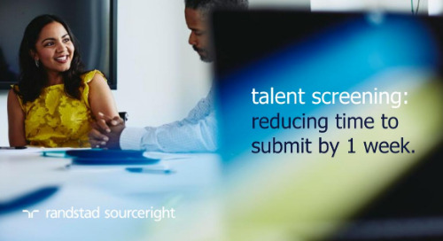 RPO case study: speed talent screening with a shared services model.