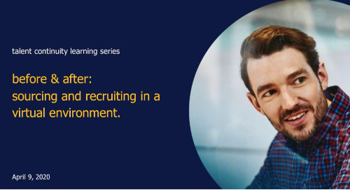 sourcing & recruiting in a virtual environment | talent continuity learning series