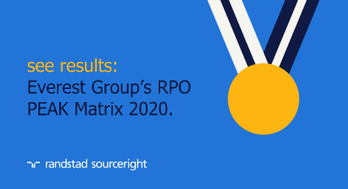 Randstad Sourceright named a leader in Everest Group's Recruitment Process Outsourcing (RPO) PEAK Matrix 2020.