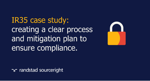 case study: establish IR35 programme management best practices to ensure compliance.