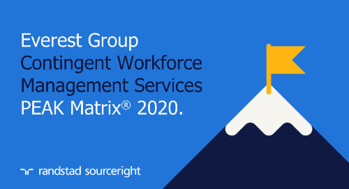 Randstad Sourceright named a leader in Everest Group's Contingent Workforce Management Services PEAK Matrix® Assessment 2020.