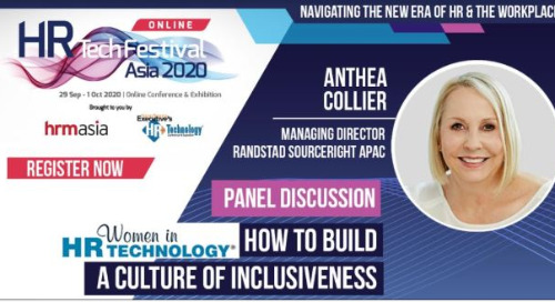 Anthea Collier to share workplace inclusion expertise during HR Tech Festival Asia Online 2020.