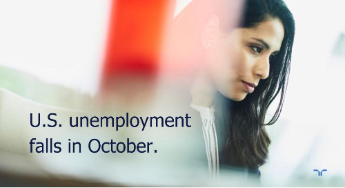 Hunt Scanlon: unemployment falls to 6.9% in October.