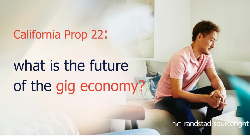 California Prop 22 and the gig economy.