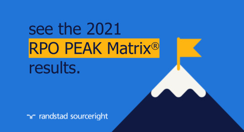 For 11 years in a row, Randstad Sourceright named a Leader in Everest Group's RPO PEAK Matrix® Assessment 2021.