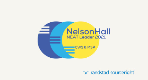 Randstad Sourceright Named A Leader In NelsonHall's NEAT Vendor Evaluation For CWS & MSP.