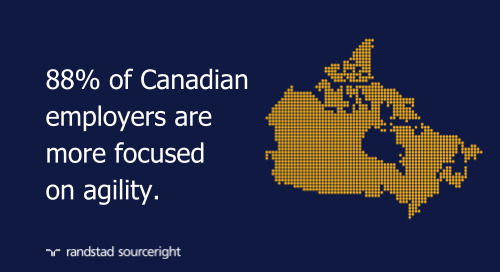 Canadian businesses more inclined to new talent strategies and work-from-home policies.