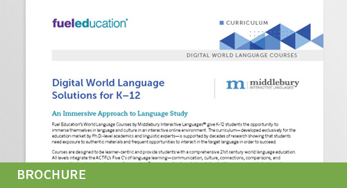 Middlebury Interactive World Languages Curriculum Flyer