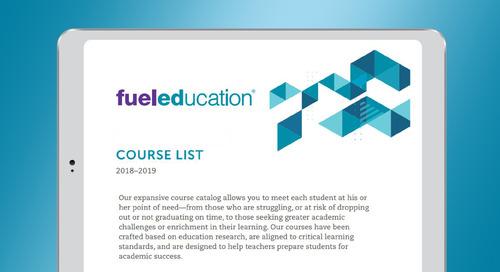 Fuel Education's 2019-2020 Course List