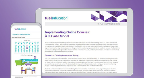 À la Carte Model Program Implementation Guide