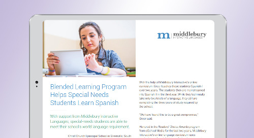 Blended Learning Program Helps Special Needs Students Learn Spanish