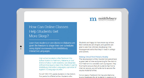 How Blended Learning is Helping Students Get More Sleep