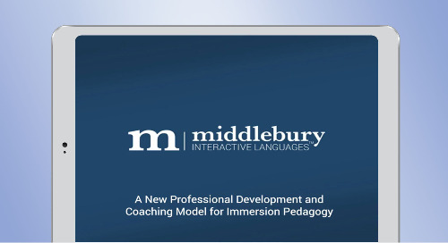 Webinar: A New Professional Development and Coaching Model for Immersion Pedagogy