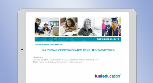 Best Practices of Implementing a Data-Driven PBL/Blended Program