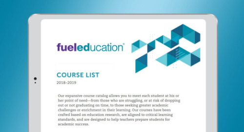 Fuel Education's 2019-2020 PEAK Course List