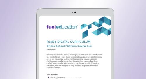 Fuel Education's 2019-2020 OLS Course List