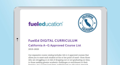 Fuel Education's A-G for California Course List for 2019-2020