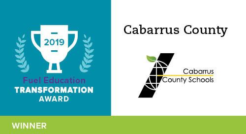 Cabarrus County Schools – 2019 Transformation Award Winner