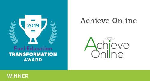 Achieve Online School – 2019 Transformation Award Winner