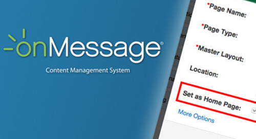 My Favorite onMessage Feature: Set as Home Page