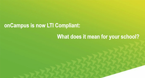 onCampus is Now LTI Compliant: What it Means for Your School
