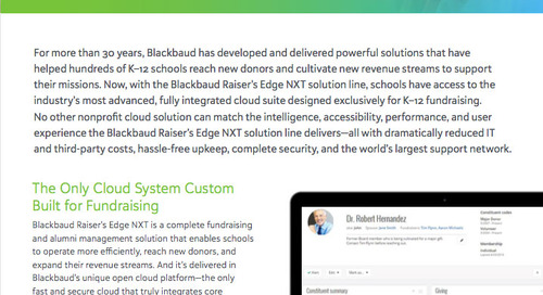 Raiser's Edge NXT Fundraising Software for Private Schools