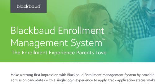 Blackbaud Enrollment Management System