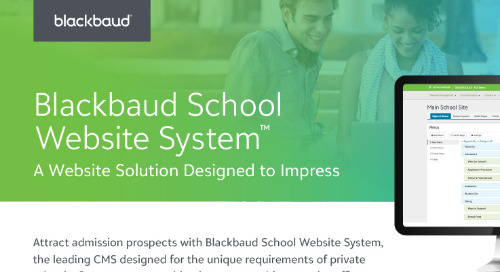 Blackbaud School Website System